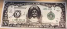 666 dollars ghost